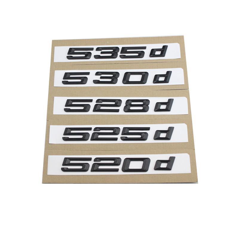 REAR TRUNK LID MATTE 535D EMBLEM BADGE LETTERS FOR BMW 5-SERIES E60 F10 F11 530D