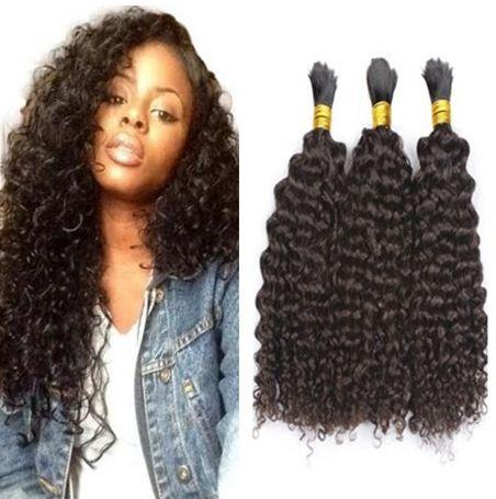 Mongola massa dei capelli micro mini trecce Bulk Afro crespo ricci Per intrecciatura estensioni dei capelli umani 9A