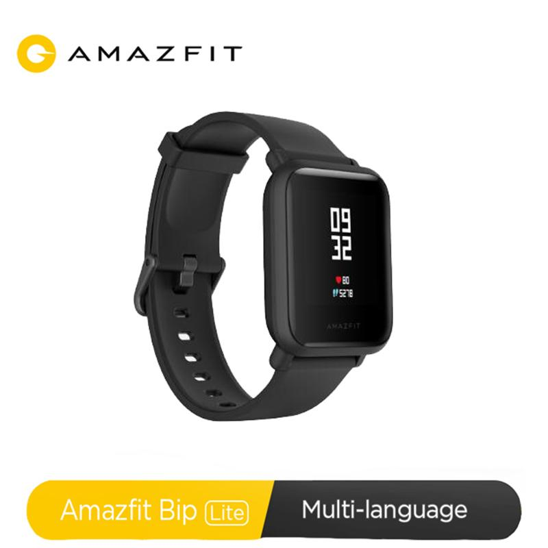 Amazfit Bip Lite Smart Watch 45-Day Battery Life 3ATM Water-resistance Smartwatch for Xiaomi Android IOS