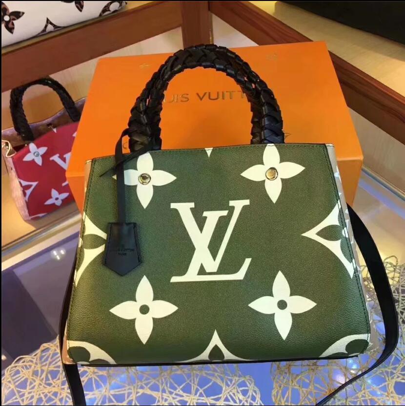 2020 Estilos populares de cuero de alta calidad de las señoras bolsa de diseñador diseñador de la cadena bolsa de mensajero de las señoras del hombro A080 del bolso del bolso de la manera envía dorp