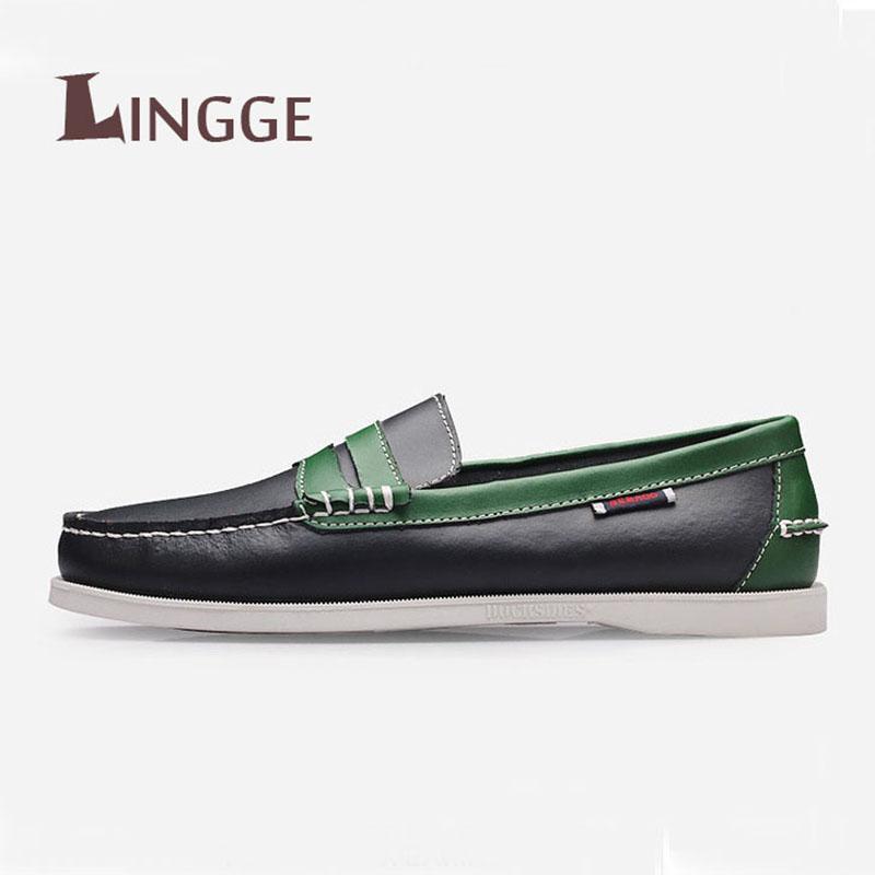 Mocasines sin cordones Zapatos casuales Hombres Pisos de cuero genuino Zapatos de conducción de negocios Zapatillas de deporte oficiales Mocassin Homme suaves MX190730