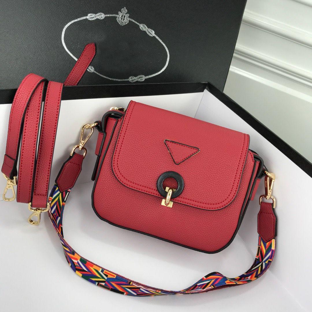 Kırmızı klasik tasarımcı marka küçük kare çanta ile iki omuz sapanlar yerine kadın omuz çantaları çapraz vücut çanta