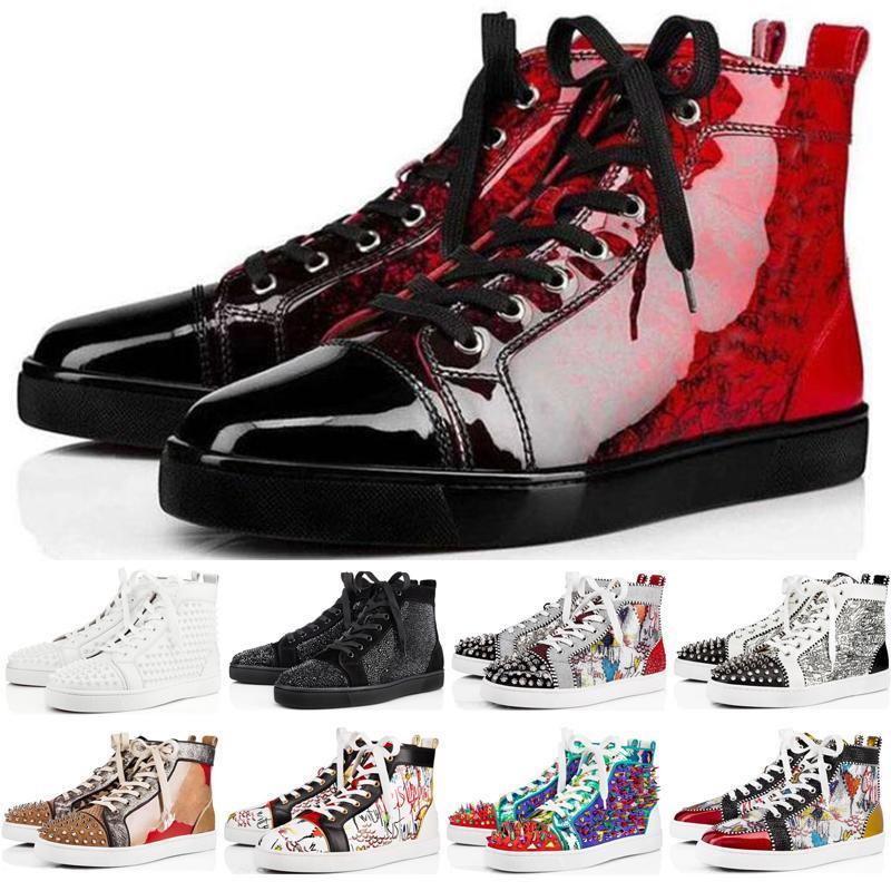 2020 Designer-Schuhe Luxus verzierte Spitzen Mode Rot Veloursleder Frauen der Männer flache Böden Schuh-Partei-Liebhaber Sneaker