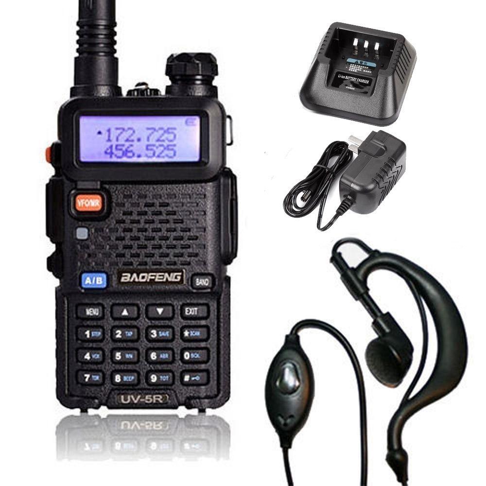 Горячие Продажи Baofeng UV-5R VHF / УВЧ Двойной Двойной Двухсторонняя ветчина Радио трансивер Walkie Talkie Black