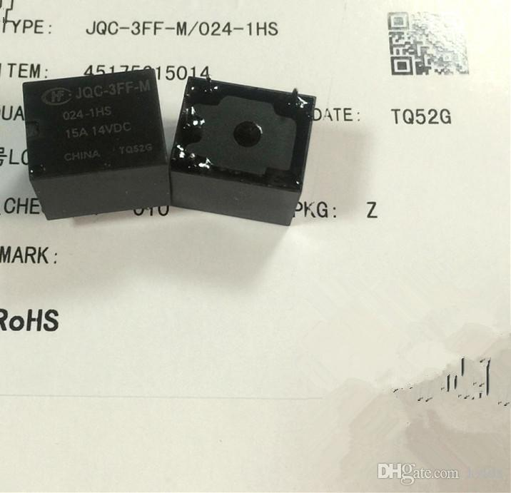 (5 peças / lote) Original Novo HF3FF-M-012-1HS JQC-3FF-M-012-1HS HF3FF-M-024-1HS JQC-3FF-M-024-1HS 4 pinos 15A14VDC 12 VDC 24 VDC relé Automóvel