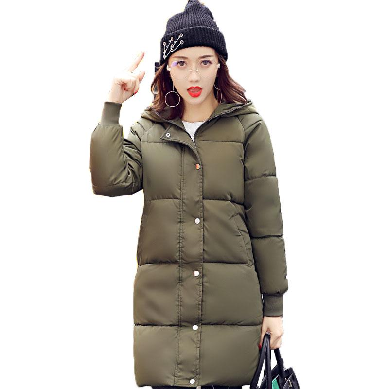 Women/'s Winter Long Slim Down Cotton Coat Hooded Warm Outwear Overcoat Jacket