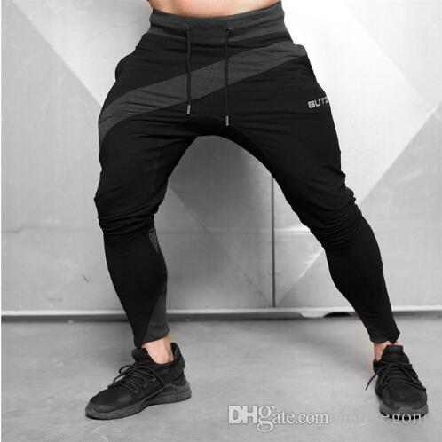 2019 Rahat Pantolon Erkek Joggers Pantolon Erkekler Vücut Geliştirme Spor Sweatpants Jogger Gym Eğitim Spor Pantolon Mens Koşu Pantolon