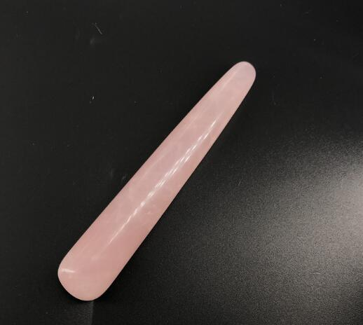 DHL 11cm Natural Rose Massage Roller Face Massager Thin Face Instrument Wand Crystal Stick for Women nl