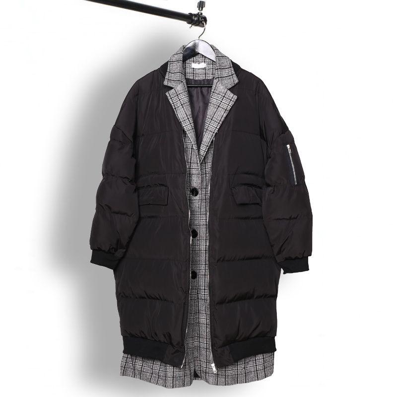 오웬 seak 남성면 코트 재킷 하이 스트리트 남성 의류 트렌치 겨울 코튼 먼지 코트 재킷 윈드 블랙 T200111