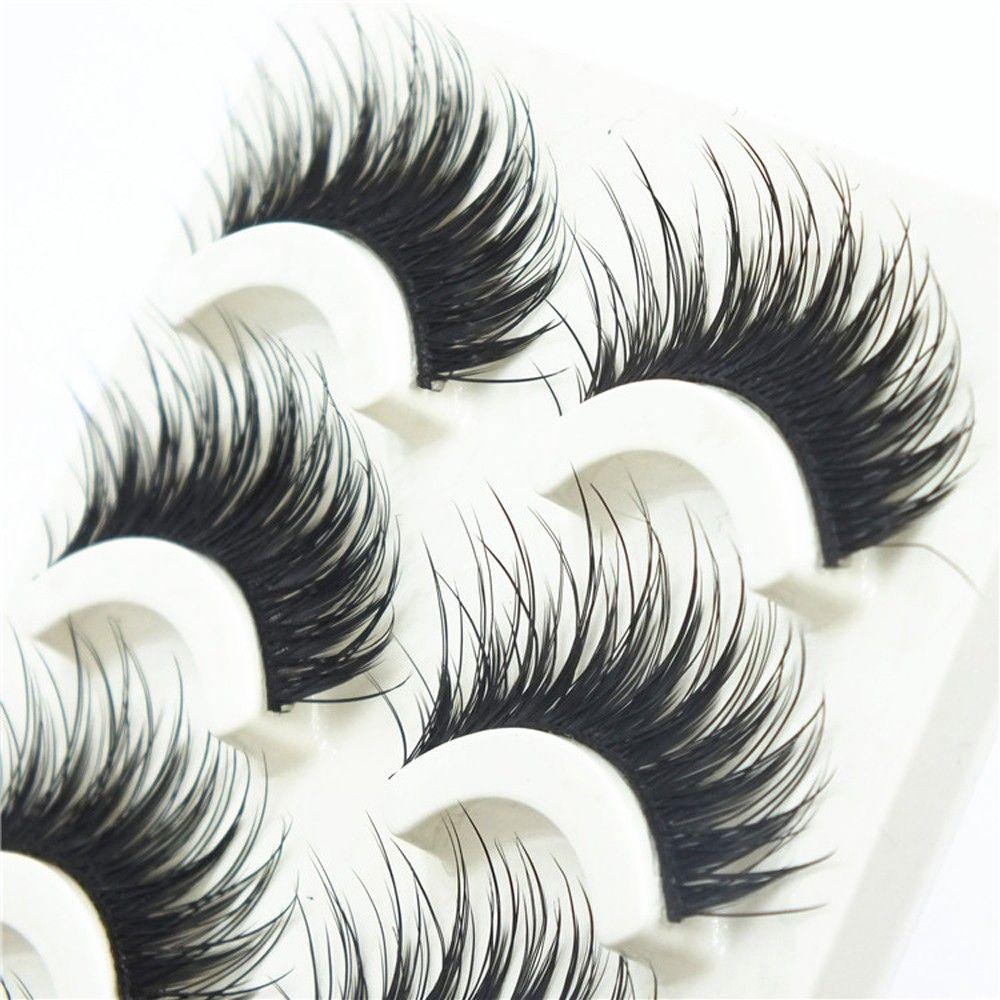 5 Pairs Natural Sparse Cross Eye Lashes Extension Women Beauty Makeup Long False Eyelashes Makeup Tools