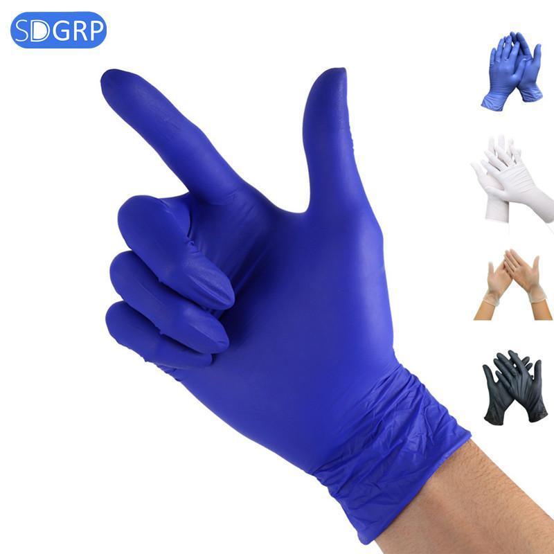 100pcs PVC / Nitril / Latex-Handschuhe Einweg-Handschuhe für Reinigungsgummihandschuh für die Arbeit / Garten S / M / L