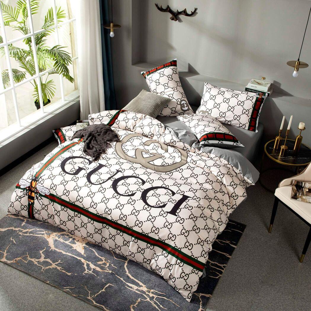 G Bettwäsche-Sets neues Luxus-Haus-Designer Bettbezug Set Baumwolle Designer Bettwäsche Queen-Size-Bettdecke Abdeckung Designer-Bettwäsche-Set