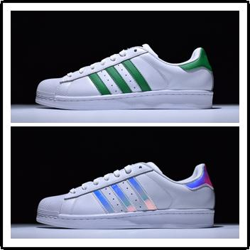 Acheter Adidas Ultra Superstar 80s 2019 New Superstars Chaussures Noir Blanc Or Hologram Junior Superstars Des Années 80 Fierté Sneakers Super Star