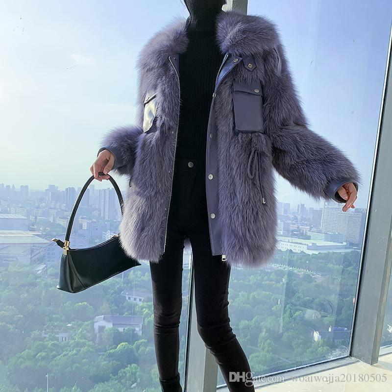 20191025 Модного мотоцикл пальто плюша пальто