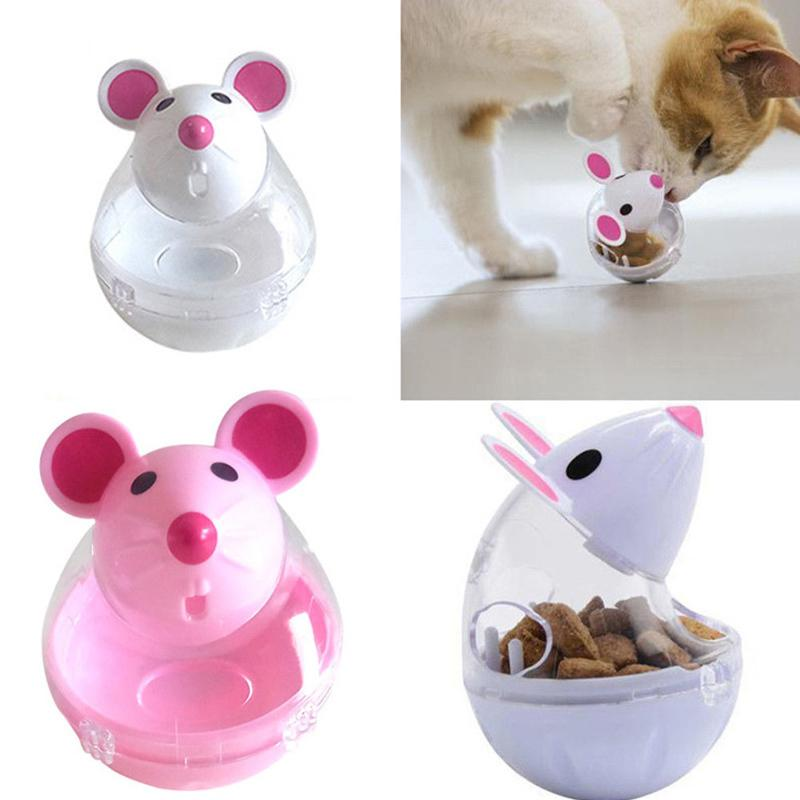 Pet cat dog tumbler automatic leaking device cartoon mouse shape cat toy pet supplies Cat Automatic Feeders D19011506