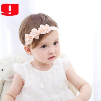 Los niños diseñador vendas marca femenina de accesorios para el cabello con flores y del partido del estilo de la cinta del bebé dulce de la manera caliente de la venta Accesorios