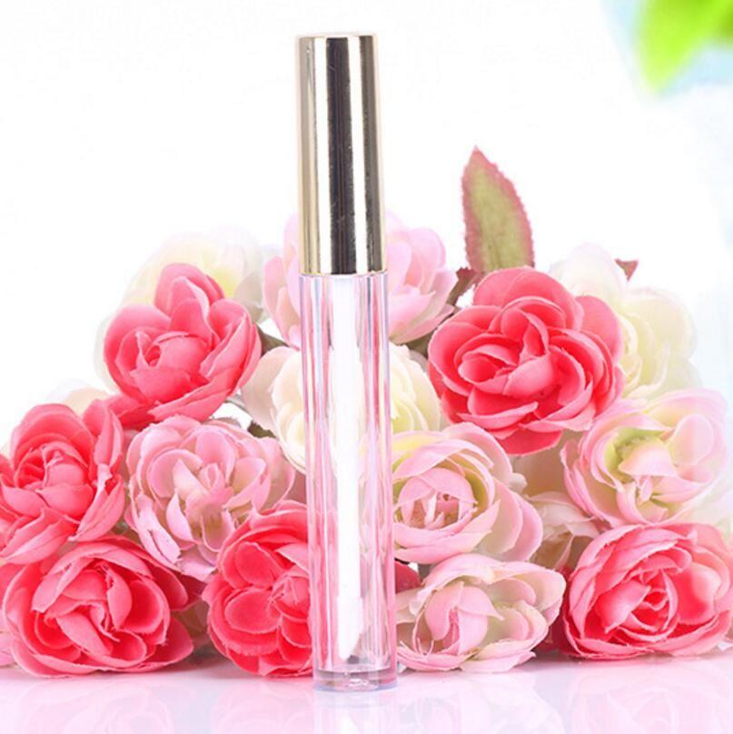 250pcs 10ml Mini Rund Lipgloss Rohr Kosmetikverpackung Lipgloss Flasche leere Behälter mit neuem Gold-Cap