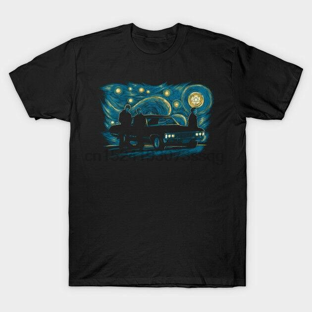Supernatural Gece Siyah Tees Tişört Giyim