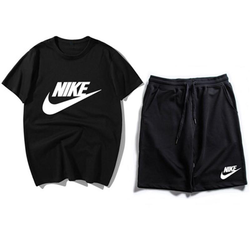 Tracksuits Mann-Sommer-T-Shirts Breath Anzug Casual T-Shirt der Frauen Männer kurzärmelige T-Shirt + kurze Hosen Wilde Suit14