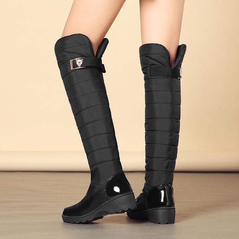 Stivali invernali Aumentare lungo Overknee pendenza con stivali donna