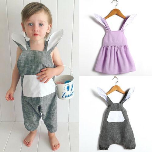 Enfant Pâques Été Tout-petit bébé fille Romper Jumpsuit Jumper minuscules robe Tenues mignon Jumpsuit Tutu Dress