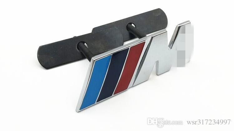 1pcs M Power Motorsport Metall Logo-Auto-Aufkleber-hintere Stamm-Emblem Grill-Abzeichen für BMW E46 E30 E34 E36 E39 E53 E60 E90 F10 F30 M3 M5 M6