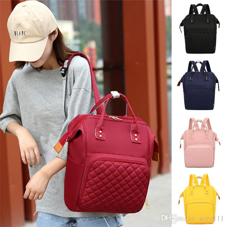 Bolsas de pañales 5 colores bolsa de pañales Mami mochila alta capacidad madre maternidad Mochila del color del caramelo bolsas de diseñador de viajes JY693
