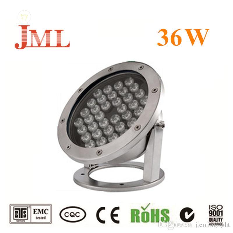 JML Outdoor Floodlights 12V 36W waterproof IP68 red blue white warm white underwater lights Christmas lights