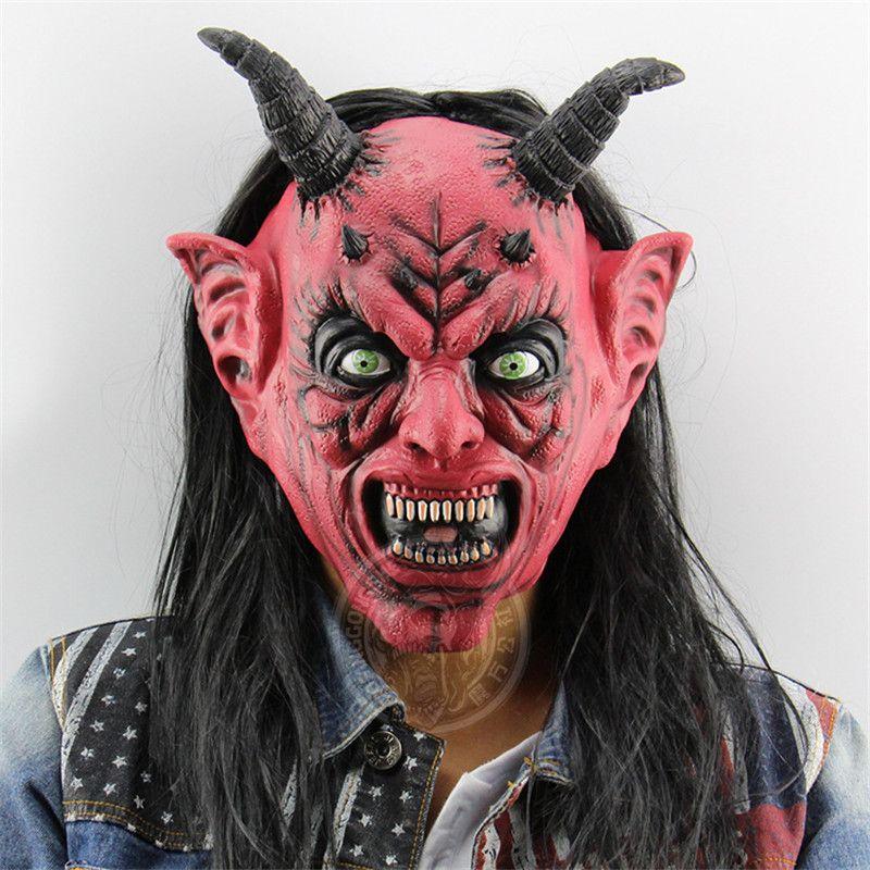 Personalità Satana Maschera Orrore divertente costume Angolo Mask dell'orecchio spaventoso Maschere Bocca di Halloween Maschere Back To School Graduation