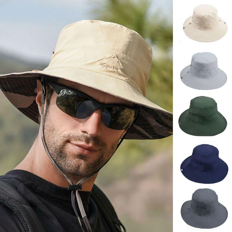 Verano de cubo sombreros de ala plegable de viaje mujer de los hombres al aire libre Senderismo Pesca Cap