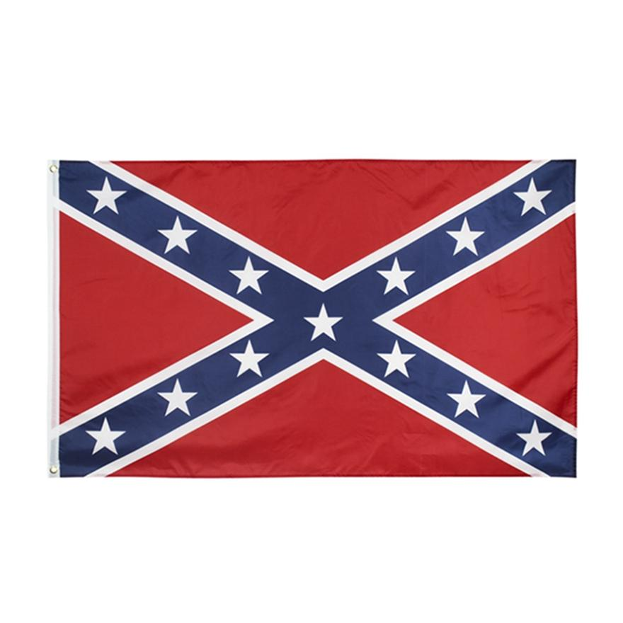 Confederato Bandiera statunitense Battaglia Southern Bandierina 150 * 90 cm Bandiere nazionali in poliestere Due lati stampato Bandiere della guerra civile HHA1386