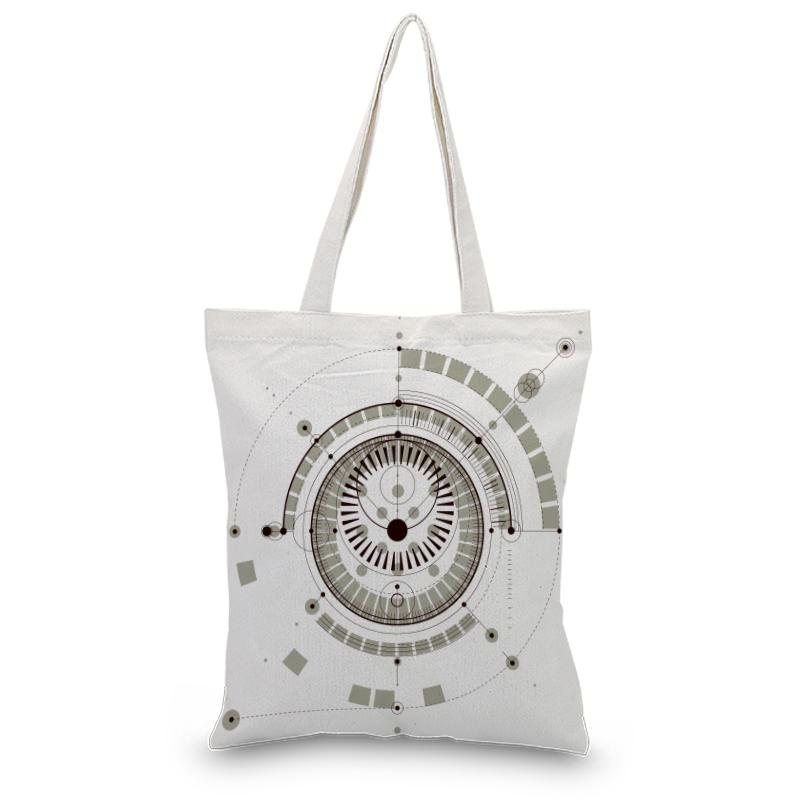 Shopping Bag Handbag Canvas Tote Bag Daily Use Print Custom Print Text DIY Satchel Foldable Eco Reusable Recycle
