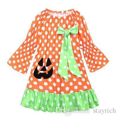 Children's pajamas role-playing skirts Children's Halloween pumpkin costumes Children's skirts