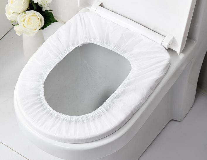 viele Einweg-WC-Sitz Reise Geschäftsreise öffentliche tragbare Haushaltsvliestoilettensitzkissen Entbindungsschlupf im Hotel Toilettengarnitur