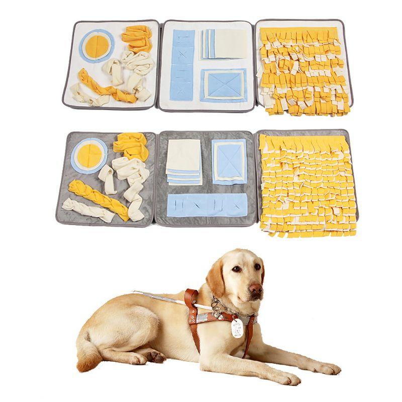 كلب ماتس التدريب لعبة التصميم الجميلة غطاء الحيوانات الأليفة الشم غطاء مضغ عض للمتعة الأنف تدريب الكلاب البيت وسادات