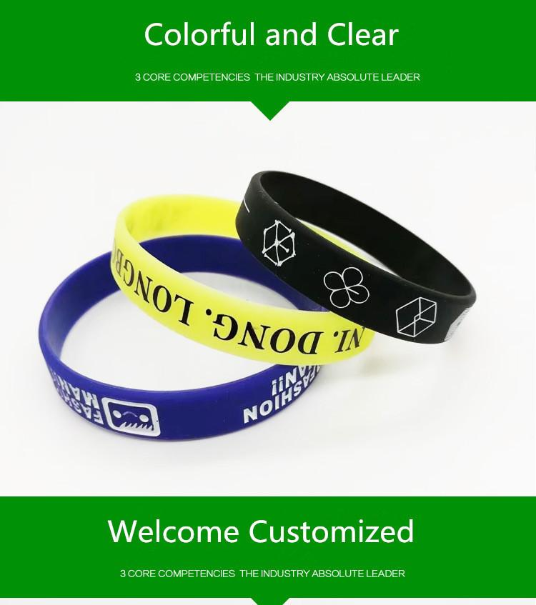 Welcome Customize Silicone Bracelet Your Own Design Or Business Logo Wristband Bracelet Create Fashion Jewelry Women&men Gift Y19051002