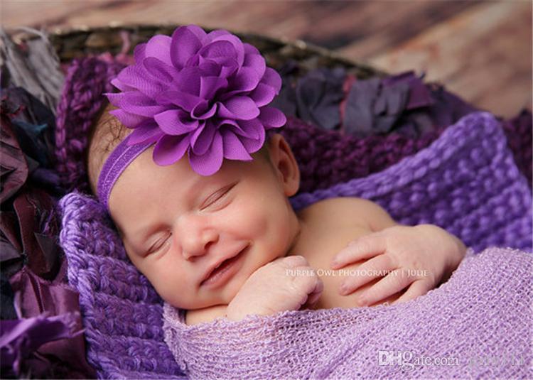 20 Colors Newborn Baby Headbands Soft Elastic Baby Headbands Cotton Hair Accessories Hairbands Baby Headband Flower Headdress DHL FJ226