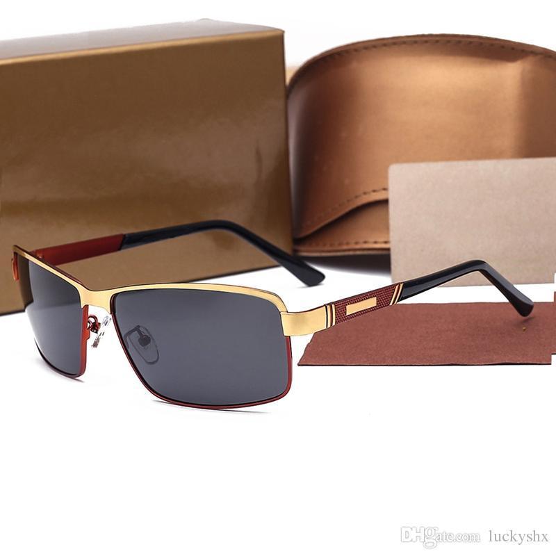 Lunettes de soleil 2017 polarisants hommes Mesdames Designer Femmes Vintage Lunettes de soleil Lunettes de soleil Femme d'été Style de lunettes avec la boîte