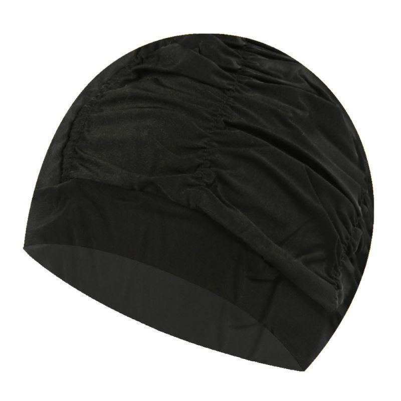 Unisex Девушки Длинные волосы шапочку бассейн Hat Женщины Плавание Cap Stretch Drape Free Размер Swim бассейн Спорт Эластичный нейлон Тюрбан