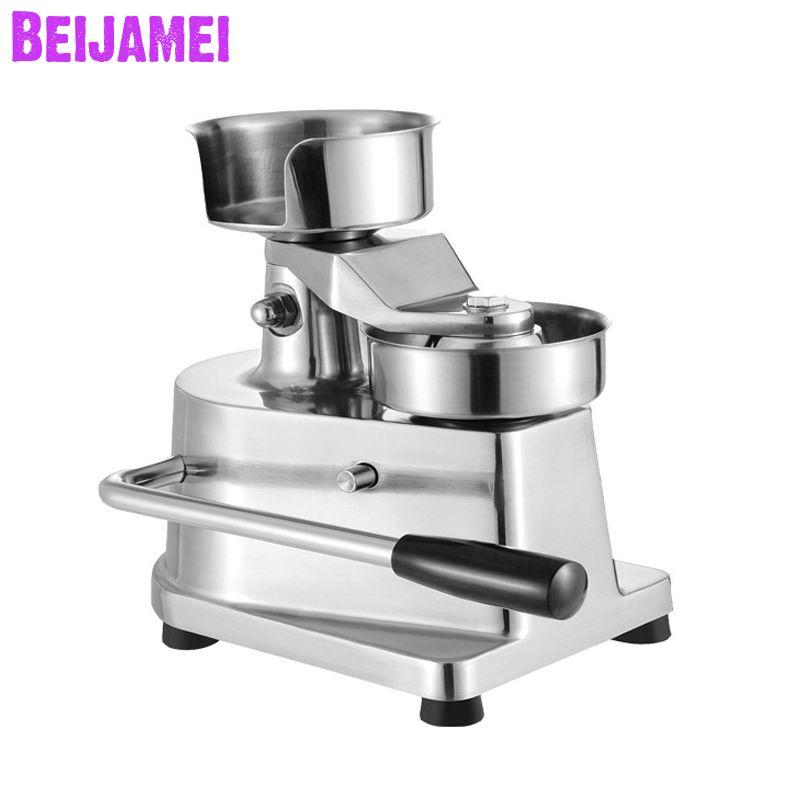 BEIJAMEI commercial 130 / 100mm manuel Hamburger de presse Burger formant la machine ronde Tourtière machine à façonner fabricant Hamburger