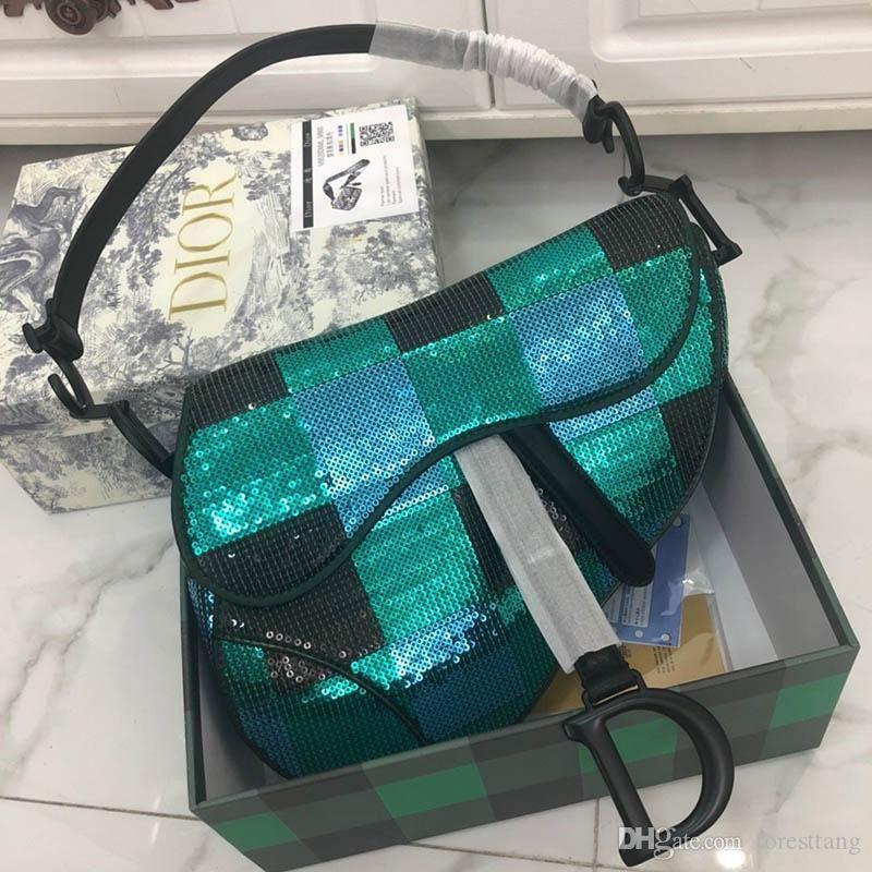 2020 nuove signore di qualità borsa di lusso signore di disegno di moda di spalla della benna diagonale guscio borsa borsa catena borsa modello: 8628