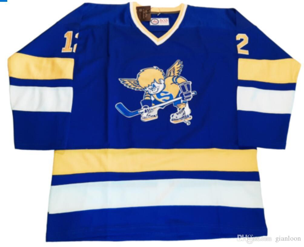 custom hockey jersey size XXS S-XXXL 4XL XXXXL 5XL 6XL Minnesota Fighting Saints Customized Hockey Jersey WHA Sweater