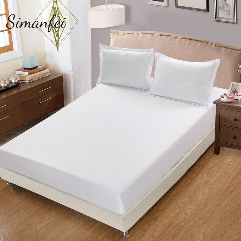Simanfei Solid Color Sheet aus gebürstetem Bettlaken mit Gummiband Matratzenschoner Bettwäsche Heimtextilien