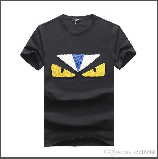 2019 été nouveaux vêtements pour hommes T-shirt manches courtes hommes version coréenne de la tendance estivale collier couleur pure v sur les vêtements en coton manches demi