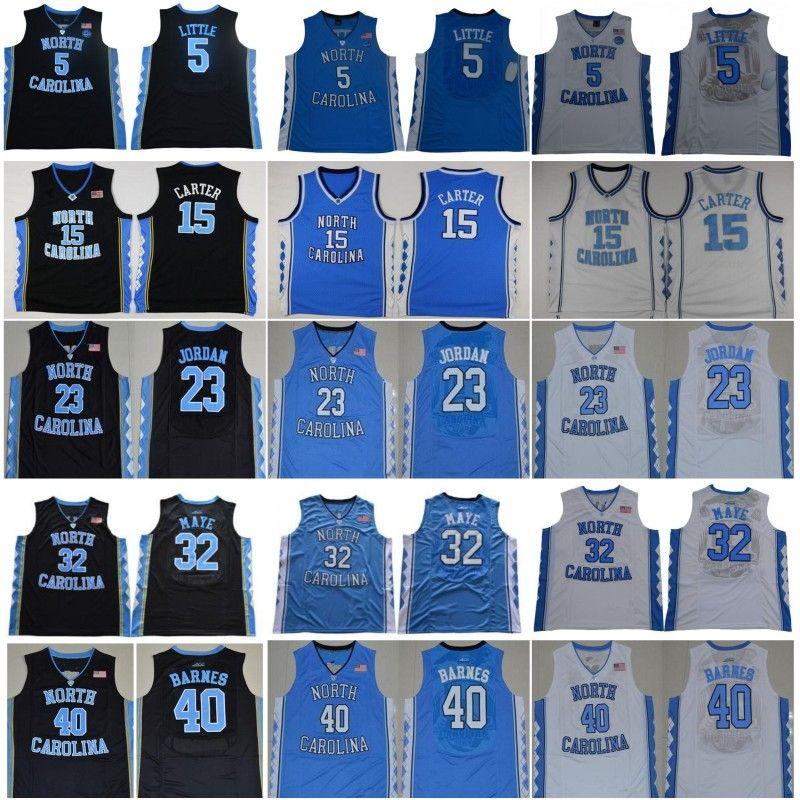 Ncaa North Carolina Tar Heels 23 Michael Nassir 5 Little 15 Carter Luke 32 Maye Barnes Vintage UNC Blue Black White Men Jerseys