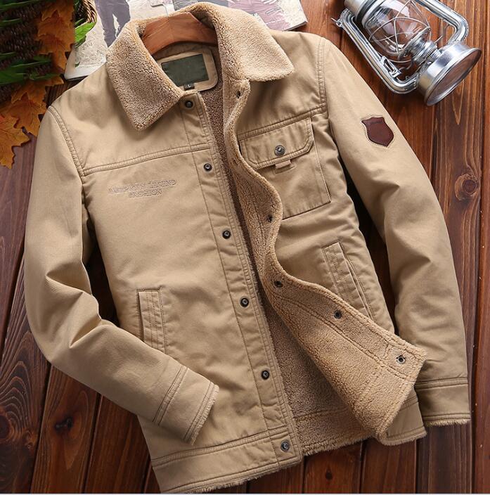 Alta qualità alla moda giacca in cotone puro degli uomini di inverno più velluto di cotone di spessore cappotto uomini slaccia più PIUMINI cappotti Windbreaker