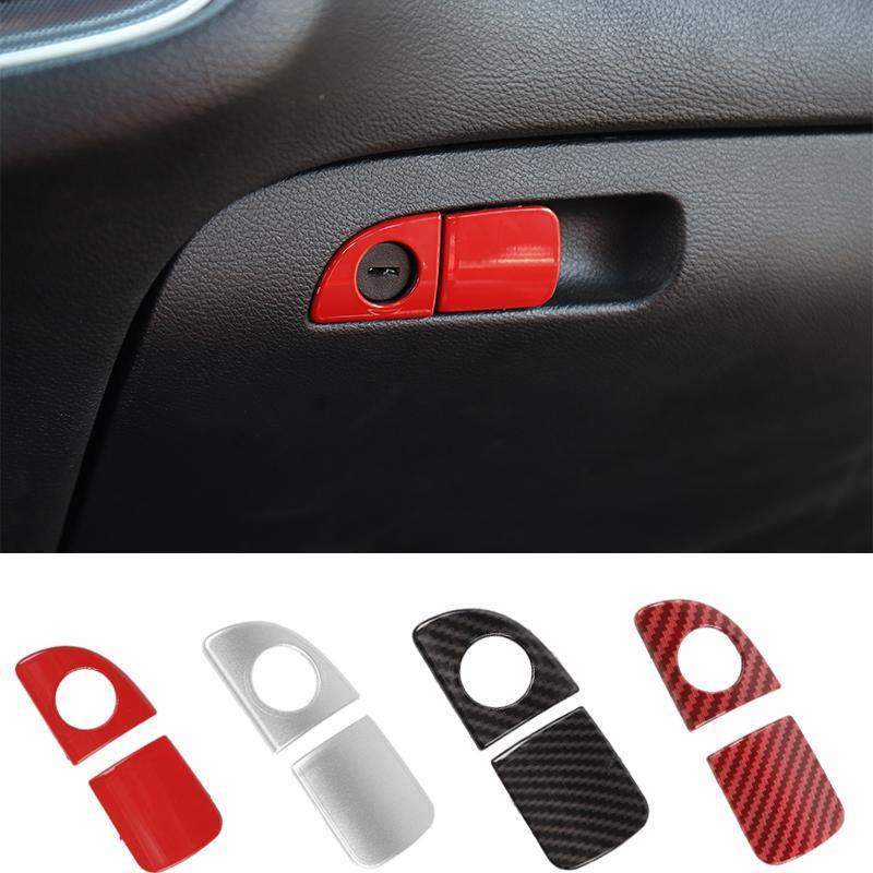 ABS переднего пассажира Коробка для хранения Выключатель Обрезка для Dodge Challenger 2015 UP Factory Outlet автомобиля Аксессуары для интерьера