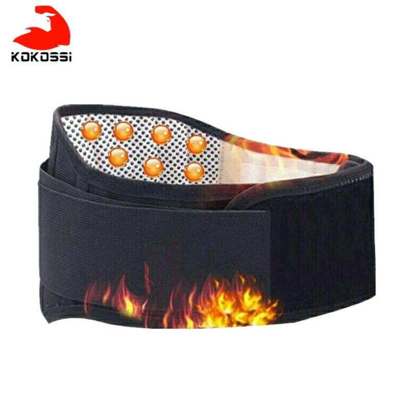 KoKossi Adjustable Tourmaline Self-heating Magnetic Therapy Waist Support Belt Lumbar Back Waist Support Brace Double Banded
