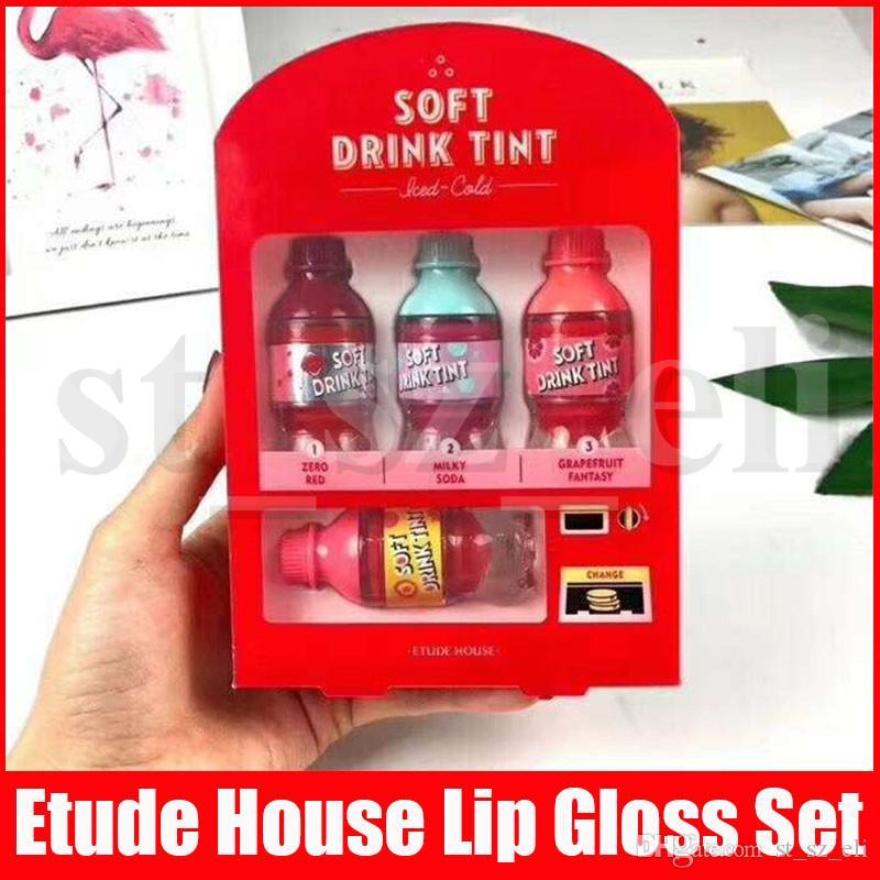 Etude Casa Lip maquiagem Matte Lipstick Líquido Velvet Soft Drink Tint Lipgloss Set Hidratante Sexy longa duração Lip Gloss