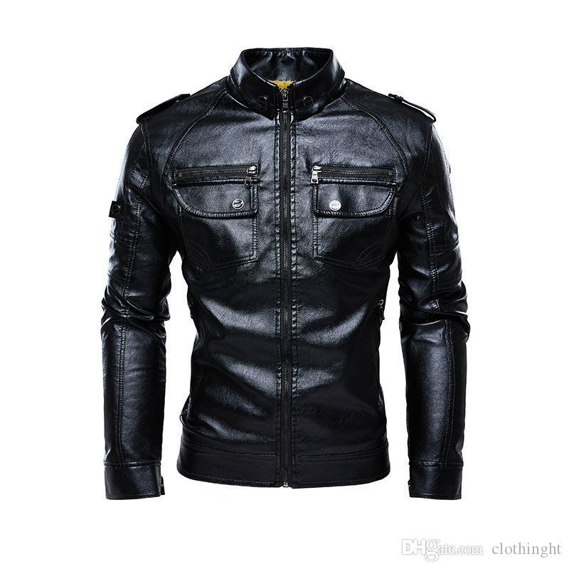 가죽 재킷과 코트 가을 두꺼운 폭격기 재킷 큰 사이즈 5XL의 따뜻함으로 만들어진 자켓 인조 가죽 모피 코트 스웨이드 자켓 가죽 천 후드 남성